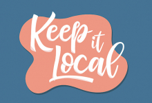 "A graphic reads ""Keep It Local"""