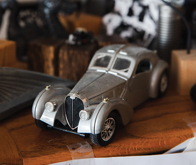 A model car made by C. Ray Frigard